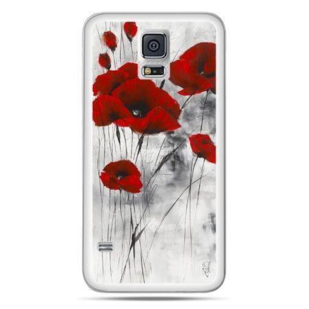 Galaxy S5 Neo etui czerwone maki