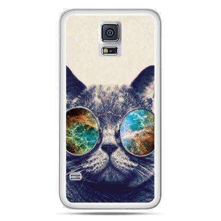 Galaxy S5 Neo etui kot w tęczowych okularach