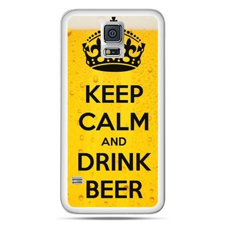Galaxy S5 Neo etui Keep calm and drink beer