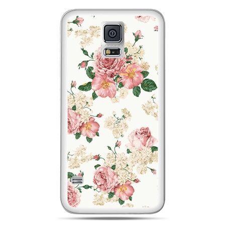 Galaxy S5 Neo etui polne kwiaty
