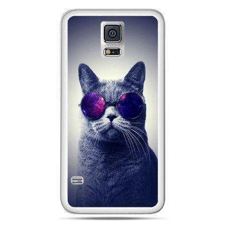 Galaxy S5 Neo etui kot hipster w okularach