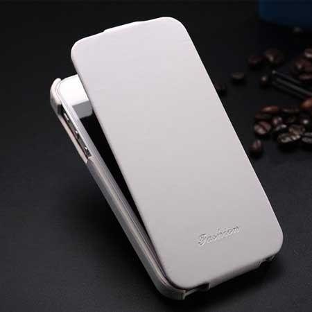 iPhone 6, 6s etui skórzane z klapką białe.
