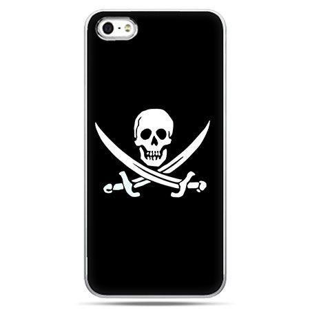 Etui na telefon flaga piracka Jolly Roger.