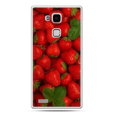 Etui na Huawei Mate 7 czerwone truskawki