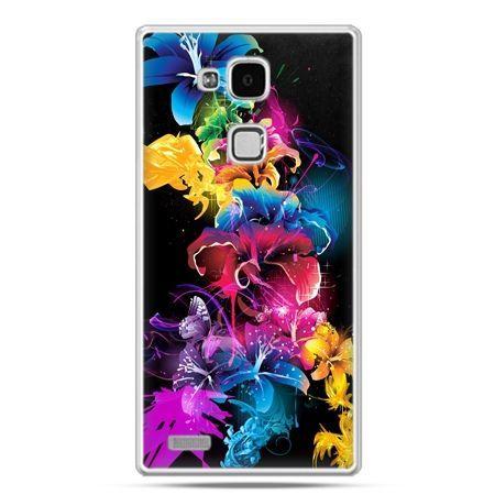 Etui na Huawei Mate 7 kolorowe kwiaty