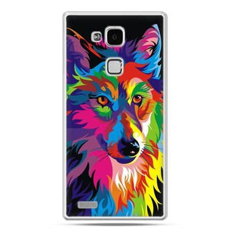 Etui na Huawei Mate 7 neonowy wilk
