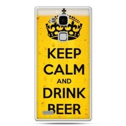 Etui na Huawei Mate 7 Keep calm and drink beer