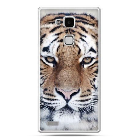 Etui na Huawei Mate 7 śnieżny tygrys