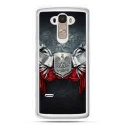 Etui na telefon LG G4 Stylus patriotyczne - stalowe godło