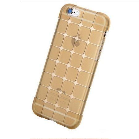 iPhone 6 / 6s CubeProtect etui silikonowe przezroczyste złote. PROMOCJA!!!