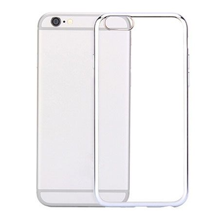 iPhone 6 silikonowe etui platynowane SLIM kolor srebrny.