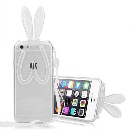 iPhone 6 królicze uszy silikonowe przezroczyste.