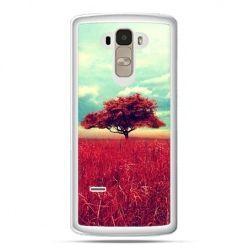Etui na LG G4 Stylus czerwone drzewo
