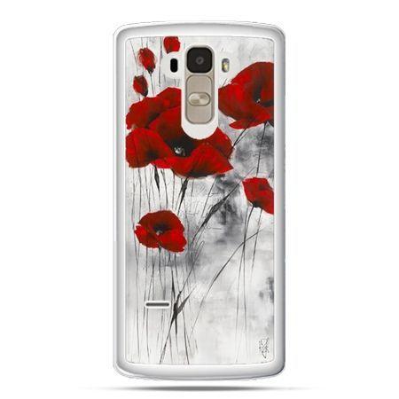 Etui na LG G4 Stylus czerwone maki