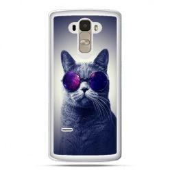 Etui na LG G4 Stylus kot hipster w okularach