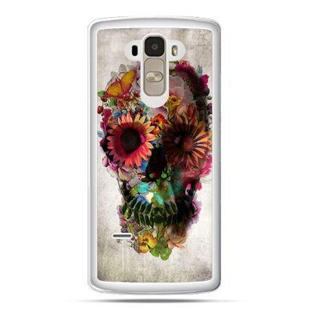 Etui na LG G4 Stylus czaszka z kwiatami