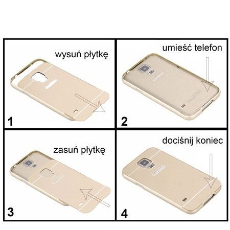 Samsung Galaxy A3 etui aluminium bumper case różowy.
