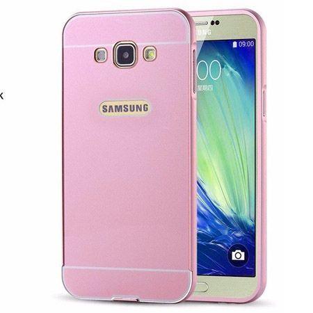 Samsung Galaxy A5 2015 etui aluminium bumper case różowy.