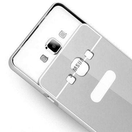 Galaxy A3 etui aluminium bumper case srebrny