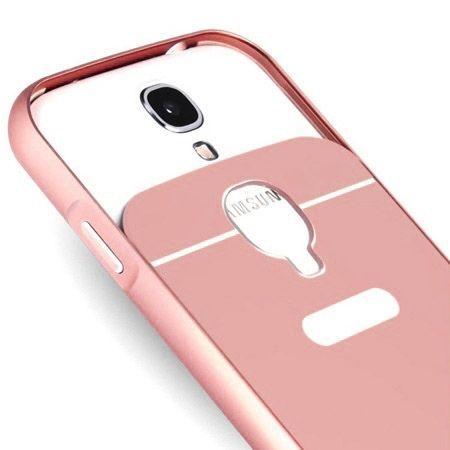 Galaxy S4 etui aluminium bumper case różowy