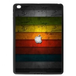 Etui na iPad Air case kolorowe pasy z logo apple