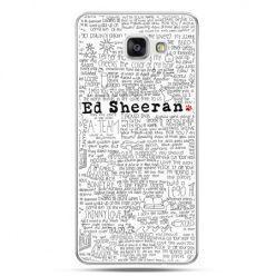 Galaxy A7 (2016) A710, etui na telefon Ed Sheeran białe poziome