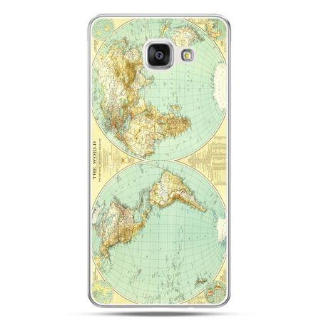Galaxy A7 (2016) A710, etui na telefon mapa świata