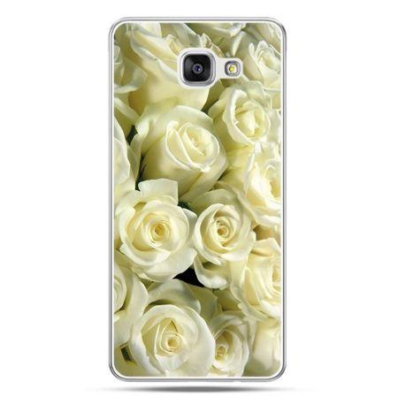 Galaxy A7 (2016) A710, etui na telefon białe róże