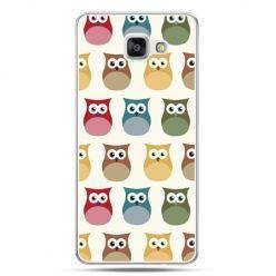 Galaxy A7 (2016) A710, etui na telefon kolorowe sowy