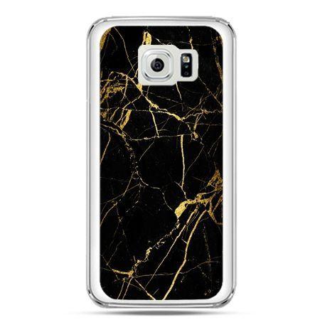 Etui na telefon Galaxy S7 złoty marmur