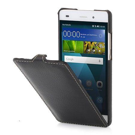 Pokrowiec Stilgut dla Huawei P8 Lite Ultraslim skórzany czarny.