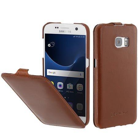 Pokrowiec na Galaxy S7 Stilgut Ultraslim skóra brązowy.