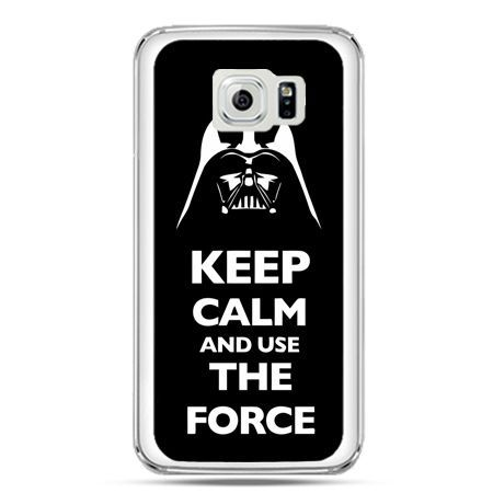 Etui na telefon Galaxy S7 Keep calm and use the force