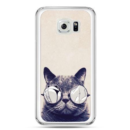 Etui na telefon Galaxy S7 kot w okularach