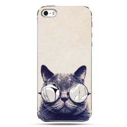 iPhone SE etui na telefon kot w okularach