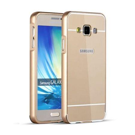Mirror bumper case na Galaxy A3 - Złoty