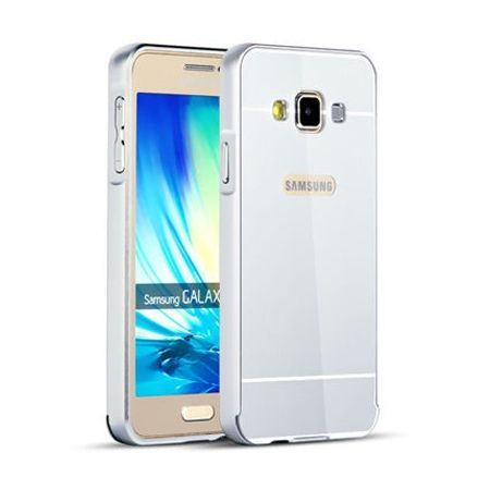 Mirror bumper case na Galaxy A3 - Srebrny