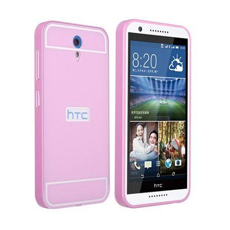 Bumper case na HTC Desire 620 - Różowy
