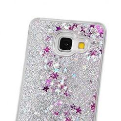 Galaxy A5 (2016) etui Stardust z ruchomym płynem w środku - srebrny brokat.