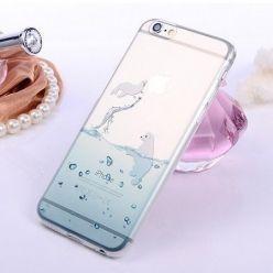 iPhone 5 / 5s ultra slim silikonowe przezroczyste etui - foka.