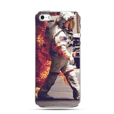 Etui na iPhone 4s / 4 - płonący astronauta