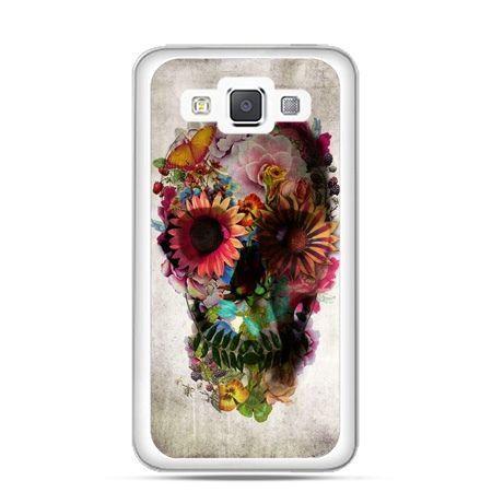 Etui na Galaxy A5 czaszka z kwiatami