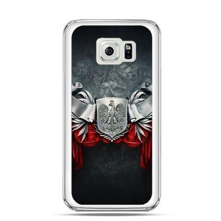 Etui na telefon Galaxy S6 Edge patriotyczne - stalowe godło