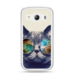 Galaxy  S3  etui kot w tęczowych okularach