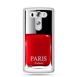 LG G3 etui lakier do paznokci czerwony