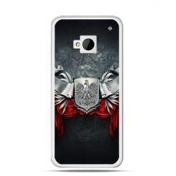 Etui na telefon HTC One M7 patriotyczne - stalowe godło