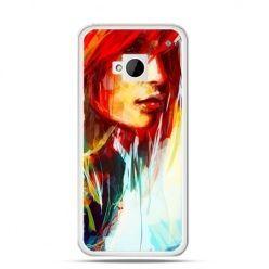 Etui na HTC One M7 kobieta akwarela