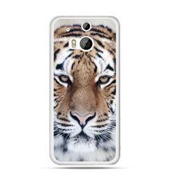 Etui na HTC One M8 śnieżny tygrys