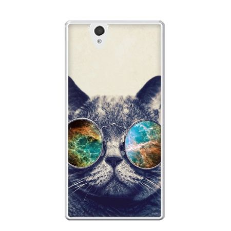 Etui na Xperia Z kot w tęczowych okularach