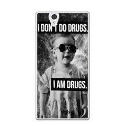 Etui na Xperia Z I don`t do drugs I am drugs